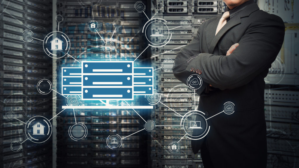Hardware Based Security - Symboldarstellung eines Rechenzentrums